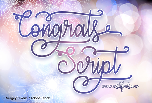 Print on Demand: Congrats Script Script & Handwritten Font By Misti