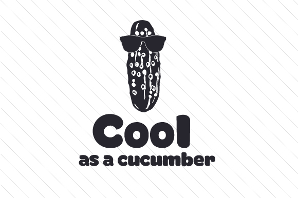 Download Free Cool As A Cucumber Svg Cut File By Creative Fabrica Crafts for Cricut Explore, Silhouette and other cutting machines.