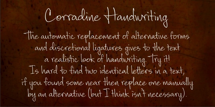 Print on Demand: Corradine Handwriting Family Script & Handwritten Font By Corradine Fonts - Image 1