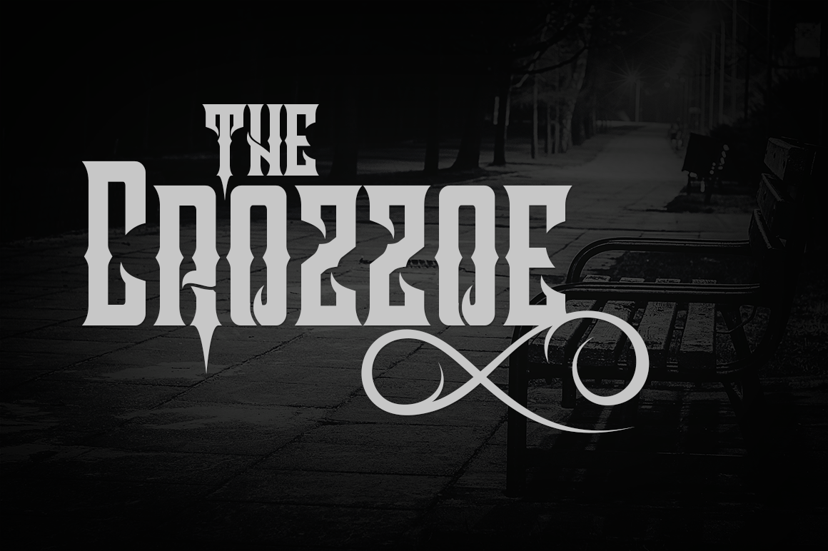 Print on Demand: Crozzoe Blackletter Font By tamaputra