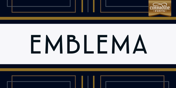 Print on Demand: Emblema Family Sans Serif Font By Corradine Fonts