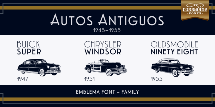 Emblema Family Font By Corradine Fonts Image 1