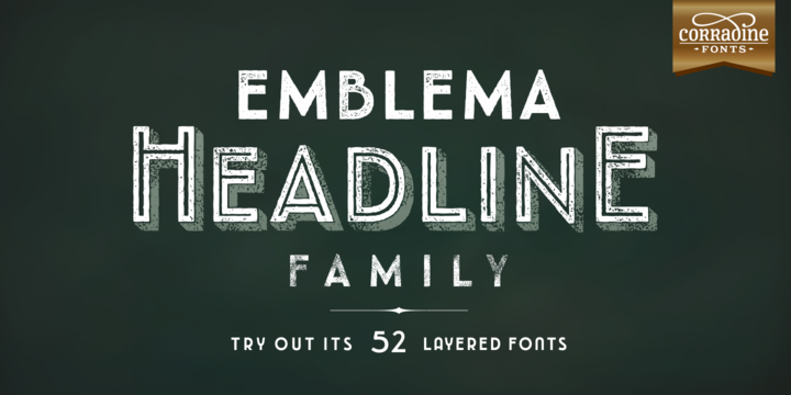 Print on Demand: Emblema Headline Family Sans Serif Font By Corradine Fonts
