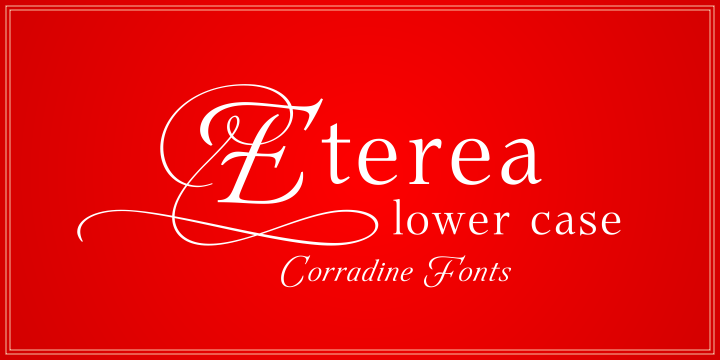Print on Demand: Eterea LC Family Serif Font By Corradine Fonts