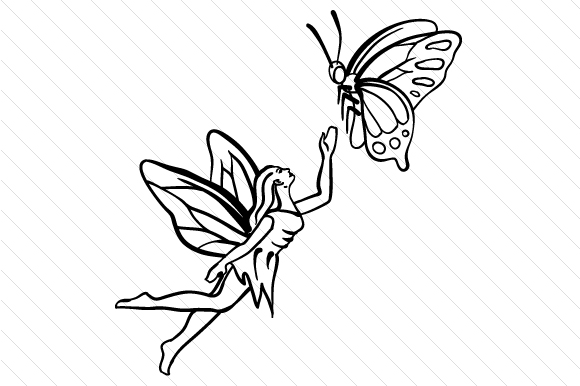 Download Free Fairy With Butterfly Svg Cut File By Creative Fabrica Crafts for Cricut Explore, Silhouette and other cutting machines.