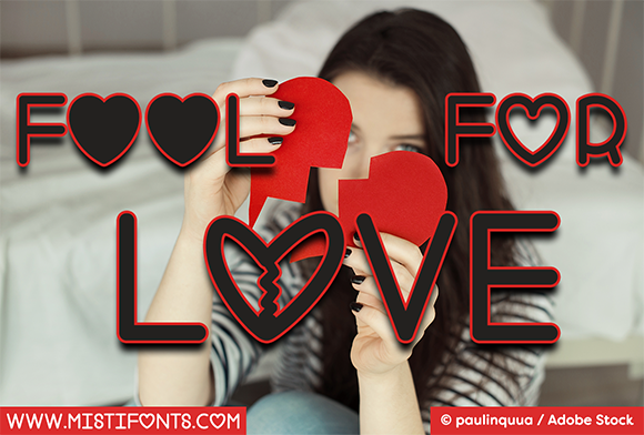 Print on Demand: Fool for Love Display Font By Misti