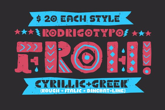 Print on Demand: Froh Display Font By Rodrigo Typo