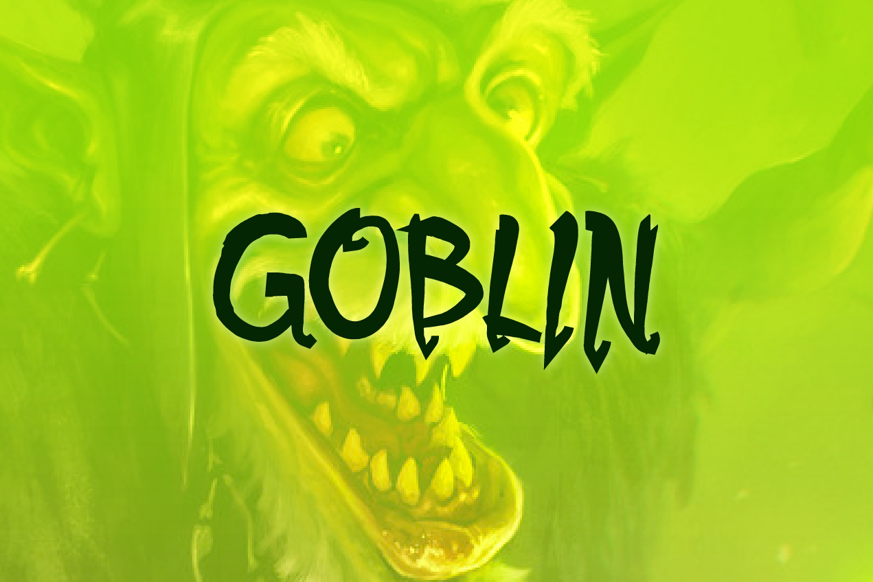 Download Free Goblin Font By Kristian Koh Creative Fabrica for Cricut Explore, Silhouette and other cutting machines.