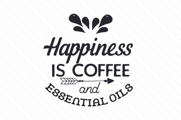 Download Free Happiness Is Coffee And Essential Oils Svg Cut File By Creative for Cricut Explore, Silhouette and other cutting machines.