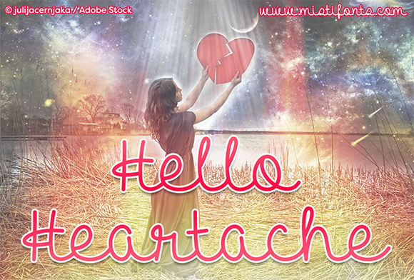 Print on Demand: Hello Heartache Script & Handwritten Font By Misti