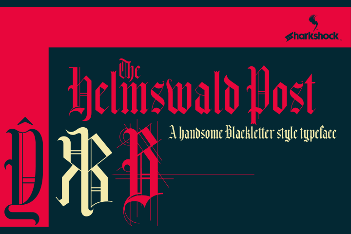 Print on Demand: Helmswald Post Blackletter Font By Sharkshock