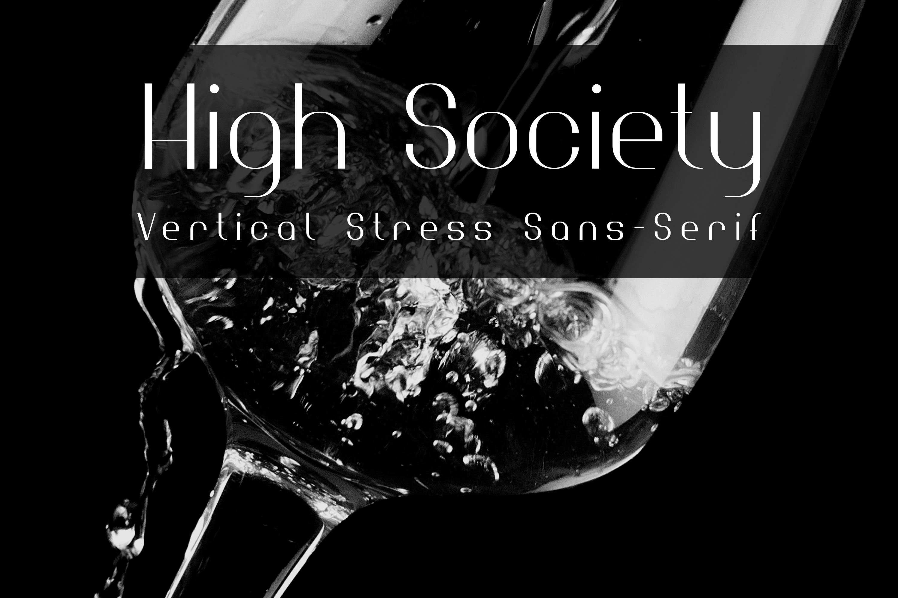 Print on Demand: High Society Sans Serif Font By thorchristopherarisland