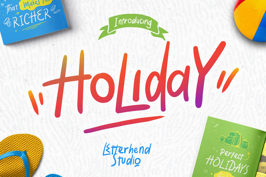 Print on Demand: Holiday Display Font By letterhend