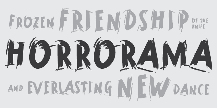 Print on Demand: Horrorama Display Font By Tour De Force