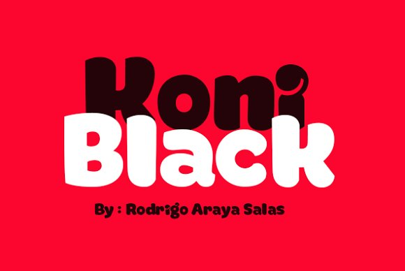 Print on Demand: Koniblack Display Font By Rodrigo Typo - Image 1