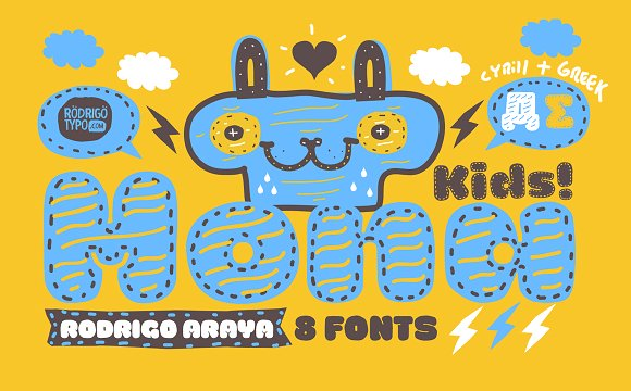 Print on Demand: La Mona Kids Display Font By Rodrigo Typo