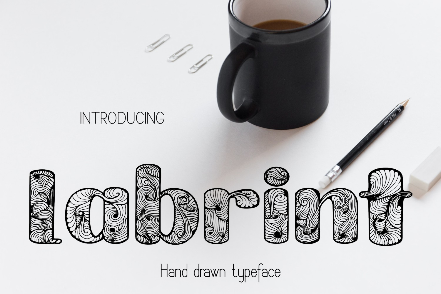 Print on Demand: Labrint Decorative Font By Eva Barabasne Olasz