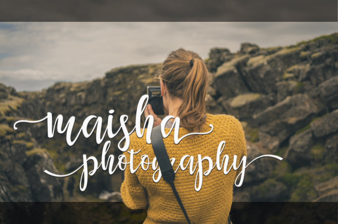 Print on Demand: Maisha Script & Handwritten Font By Mrletters - Image 3