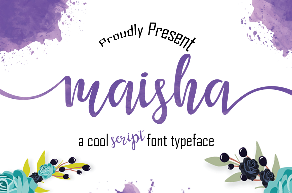 Print on Demand: Maisha Script & Handwritten Font By Mrletters - Image 1