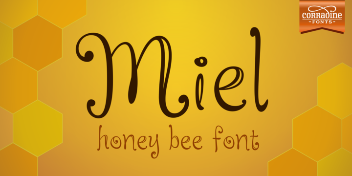 Print on Demand: Miel Family Script & Handwritten Font By Corradine Fonts