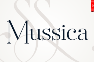 Mussica Family Font By Corradine Fonts