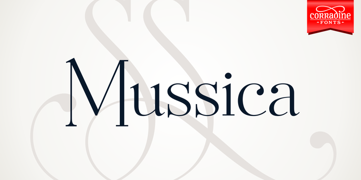 Mussica Family Serif Font By Corradine Fonts