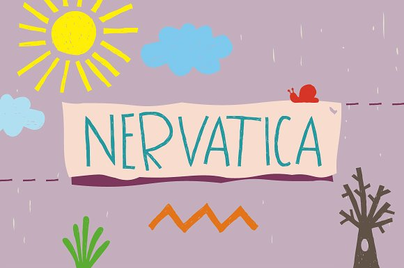 Print on Demand: Nervatica Display Font By Tour De Force