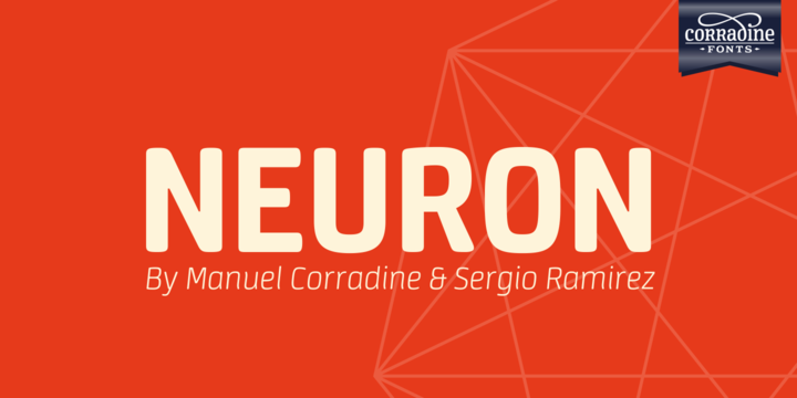 Print on Demand: Neuron Family Sans Serif Font By Corradine Fonts