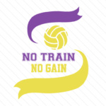 No train no gain volleyball