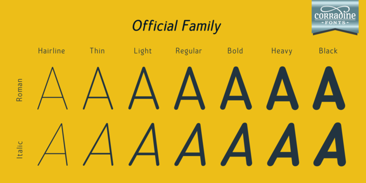 Print on Demand: Official Family Sans Serif Font By Corradine Fonts - Image 1