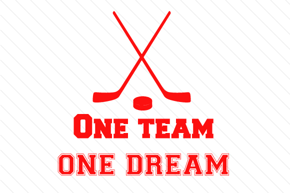 Download Free One Team One Dream Hockey Svg Cut File By Creative Fabrica for Cricut Explore, Silhouette and other cutting machines.
