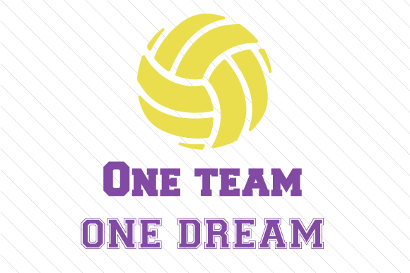 Download Free One Team One Dream Volleyball Svg Cut File By Creative Fabrica for Cricut Explore, Silhouette and other cutting machines.