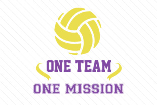 One team one mission volleyball