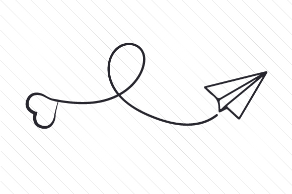 Download Free Paper Plane With Heart Svg Plotterdatei Von Creative Fabrica for Cricut Explore, Silhouette and other cutting machines.