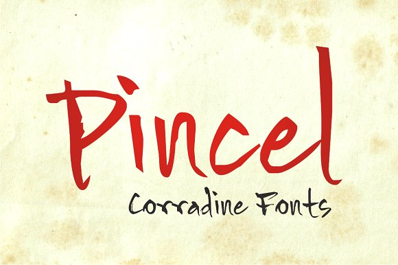 Print on Demand: Pincel Family Script & Handwritten Font By Corradine Fonts