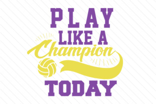 Play like a champion today volleyball