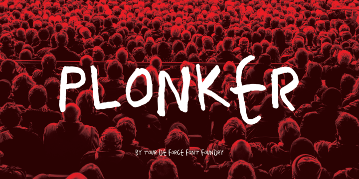 Print on Demand: Plonker Display Font By Tour De Force