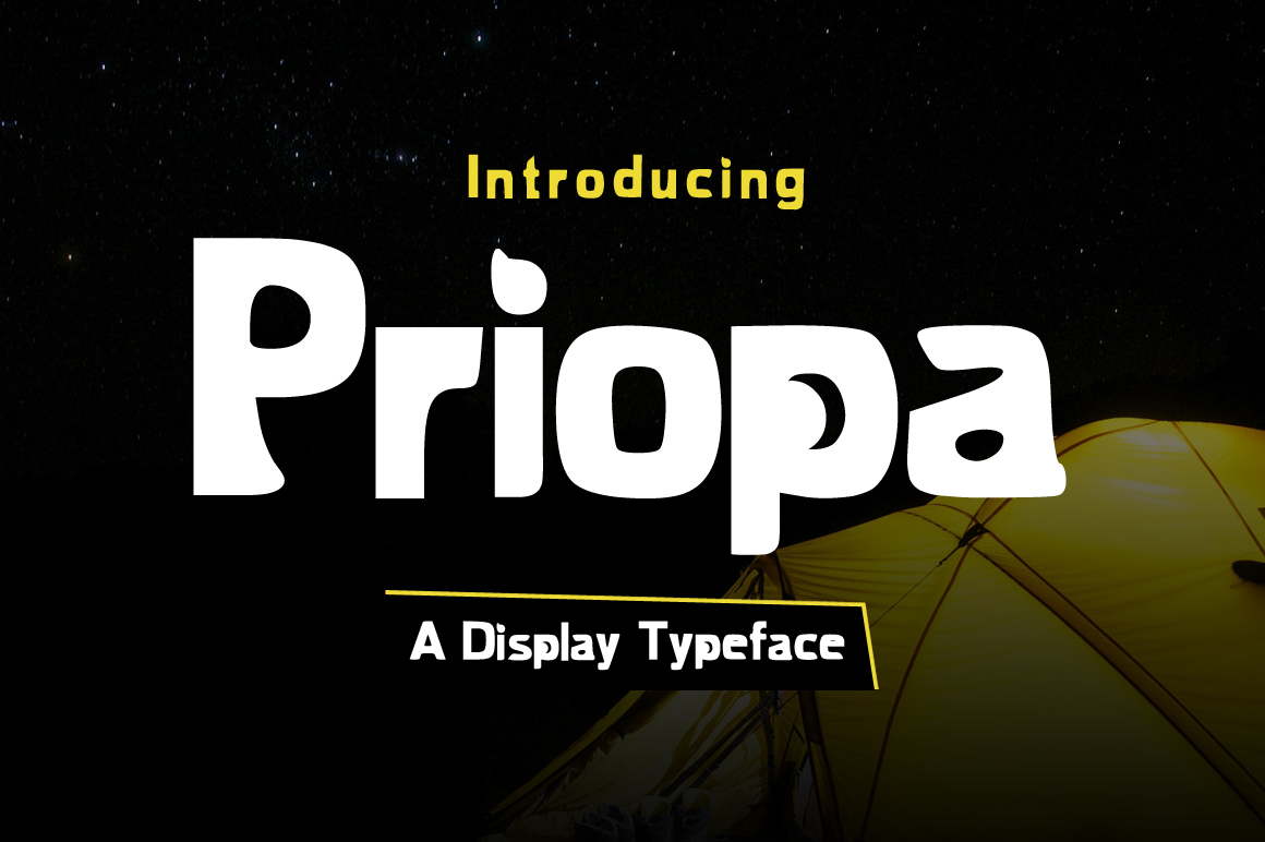 Priopa Display Font By Contour Fonts