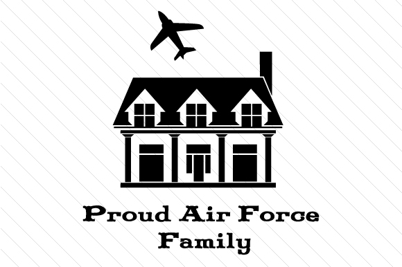 Download Free Proud Air Force Family House Svg Cut File By Creative Fabrica for Cricut Explore, Silhouette and other cutting machines.