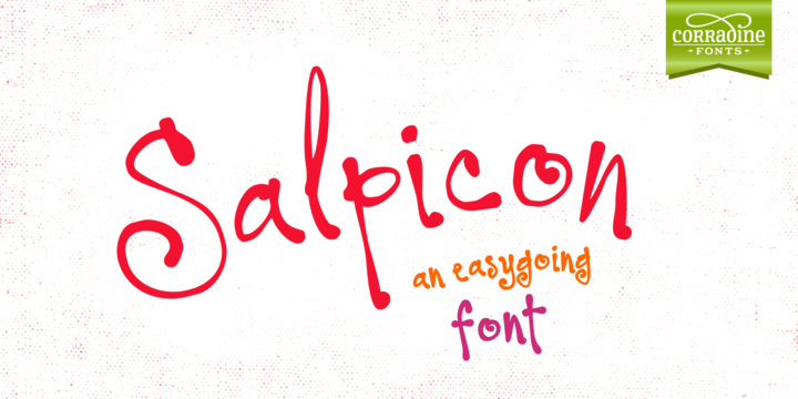 Print on Demand: Salpicon Family Script & Handwritten Font By Corradine Fonts
