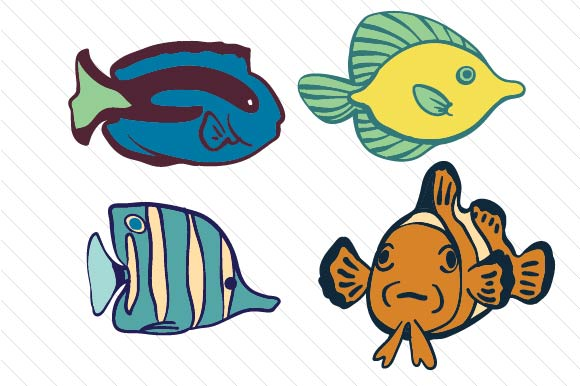 Set Of Tropical Fish Svg Cut File By Creative Fabrica Crafts