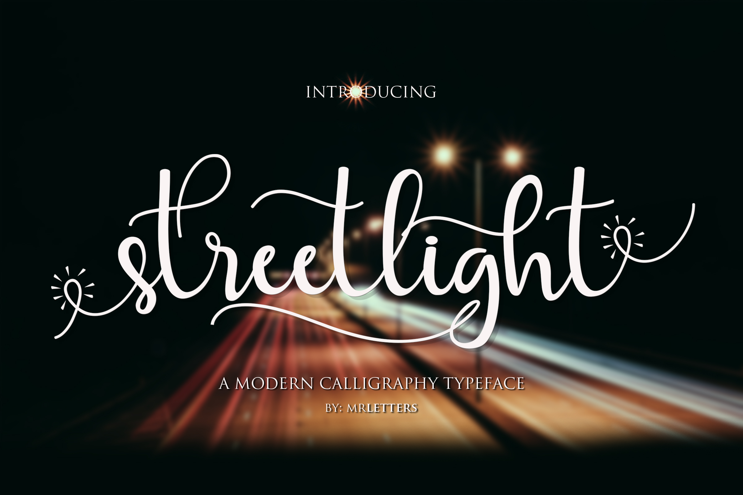 Streetlight Font By Mrletters Image 2