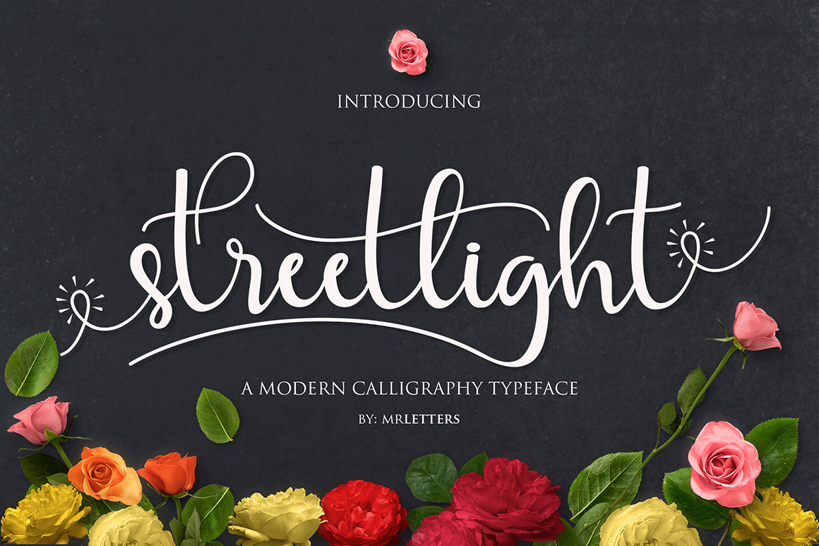 Streetlight Font By Mrletters Image 1