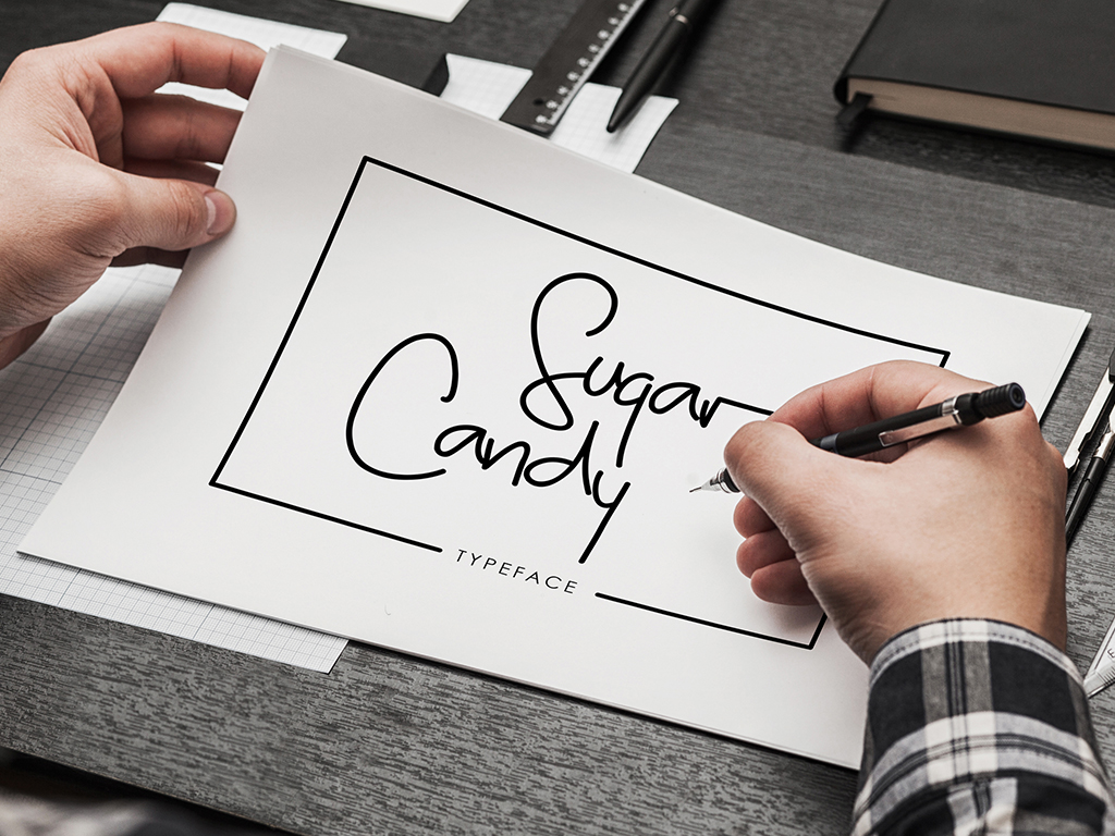 Print on Demand: Sugar Candy Script & Handwritten Font By madeDeduk