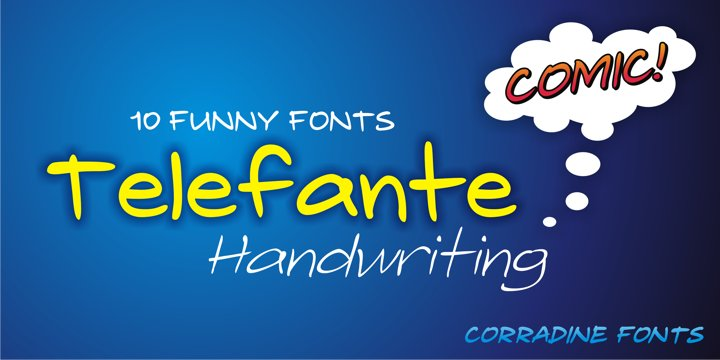 Print on Demand: Telefante Family Script & Handwritten Font By Corradine Fonts