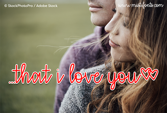 Print on Demand: That I Love You Script & Handwritten Font By Misti