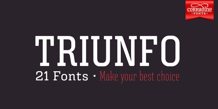 Print on Demand: Triunfo Family Slab Serif Font By Corradine Fonts
