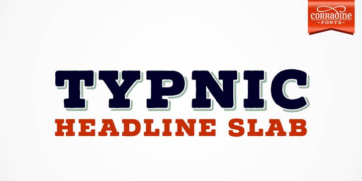 Print on Demand: Typnic Headline Family Slab Serif Font By Corradine Fonts