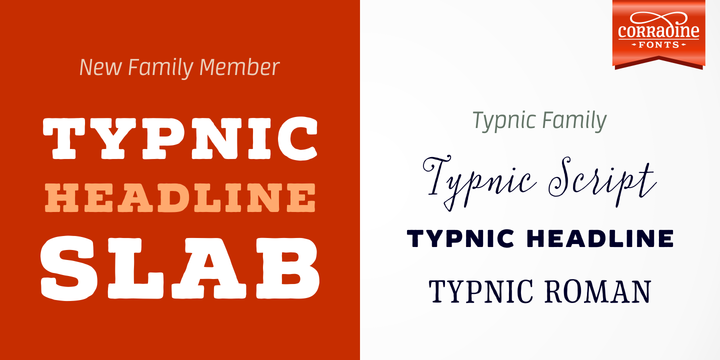 Print on Demand: Typnic Headline Family Slab Serif Font By Corradine Fonts - Image 1