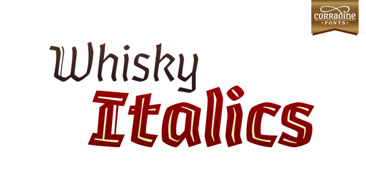 Print on Demand: Whisky Italic Family Blackletter Font By Corradine Fonts